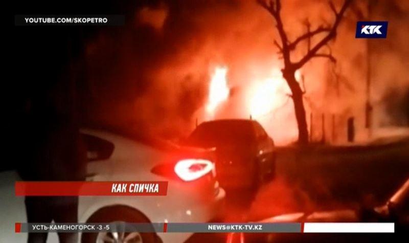 В СКО полностью выгорела мечеть