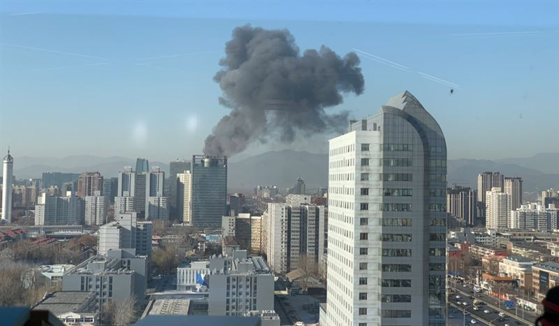 В Китае в офисе Google вспыхнул пожар