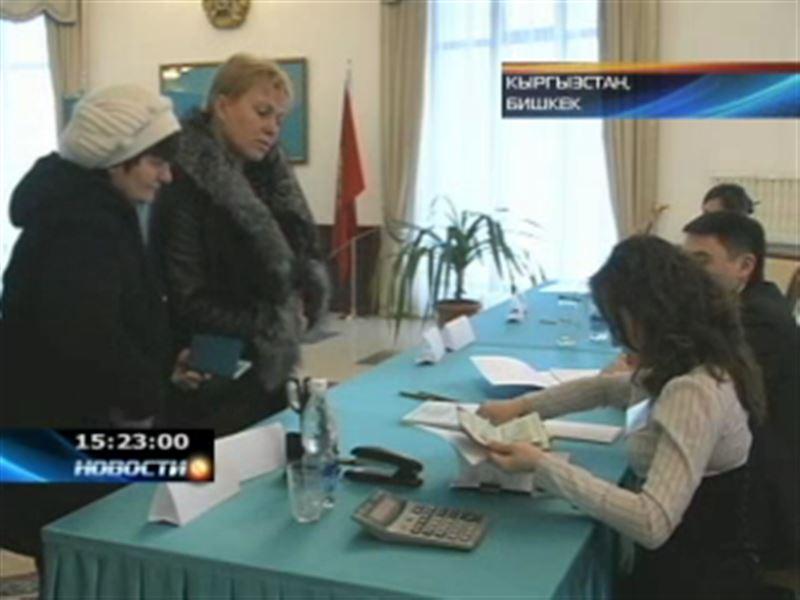 В Кыргызстане к этому времени проголосовали уже 120 человек