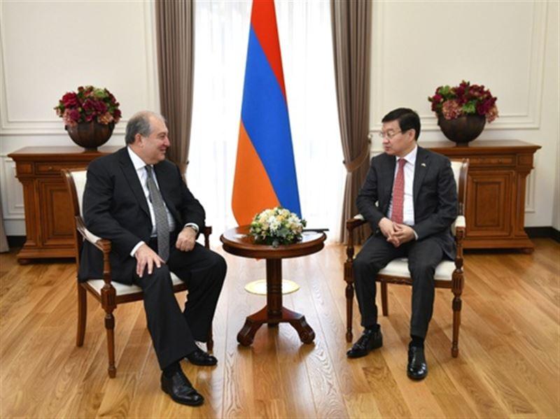 Президент Армении Армен Саркисян поздравил народ Казахстана с Днем независимости