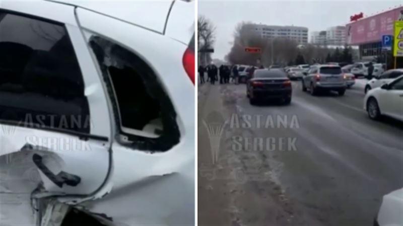 Астанада бірден 9 көлік апатқа ұшырады