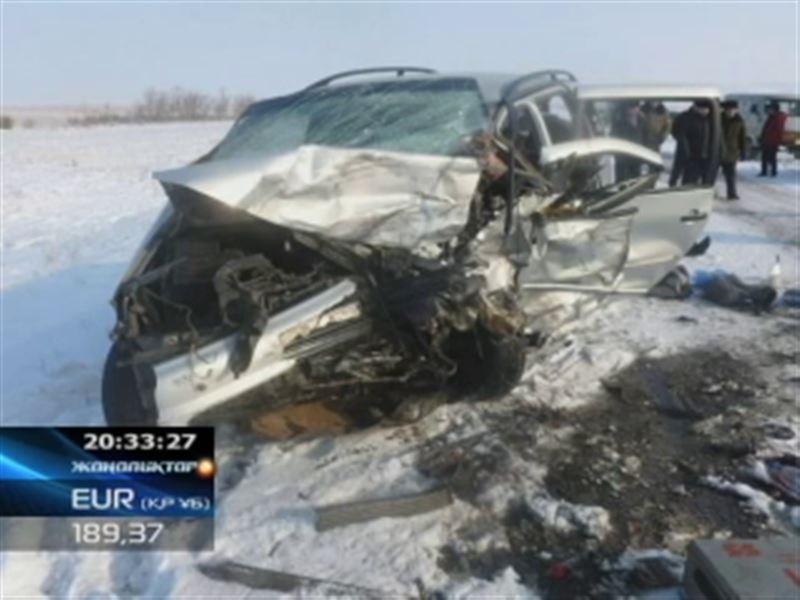 Крупная авария в Караганде