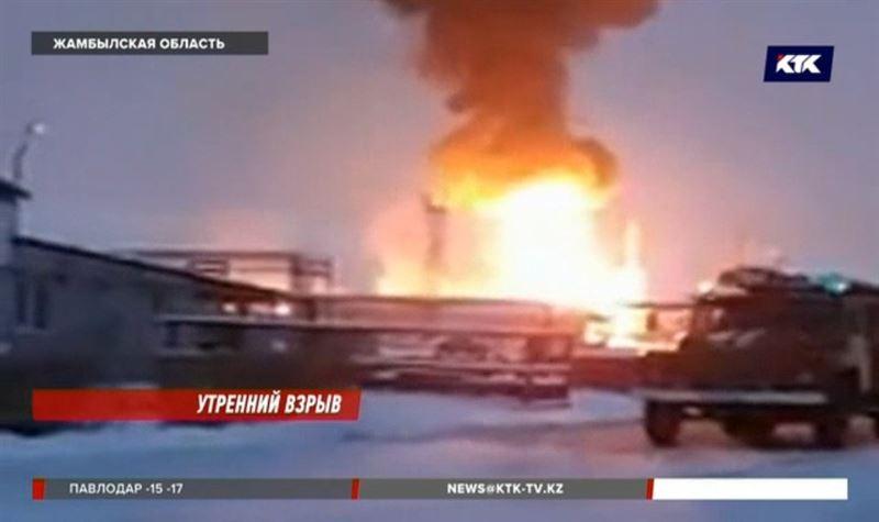 Взрыв на газоперерабатывающем заводе в Жамбылской области