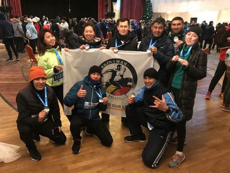 ФОТО: Астананың 1600 тұрғыны қысқы марафонда жүгірді
