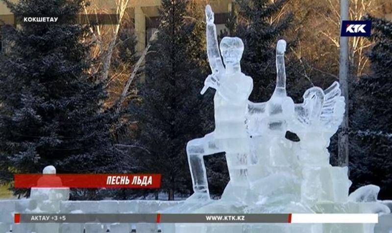 Ледяной Димаш Кудайберген появился в Кокшетау