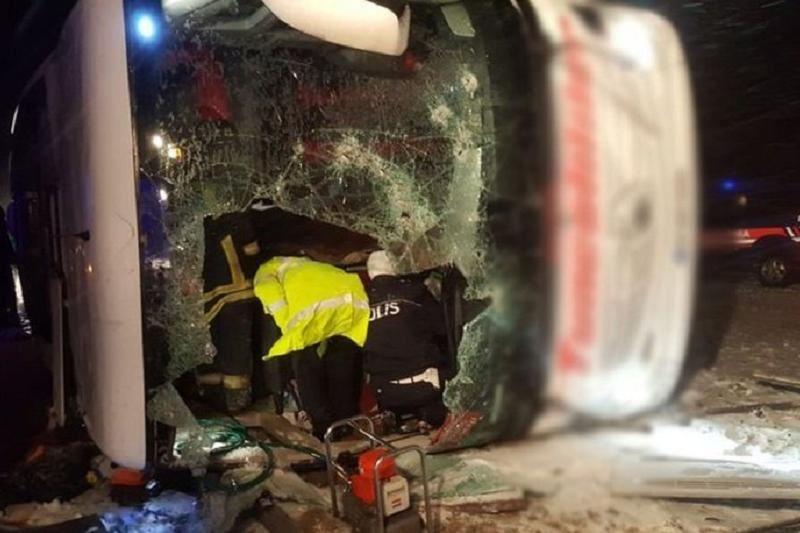 Автобус апатынан 3 адам қаза тапты