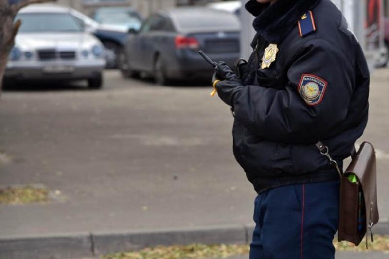 Астанада мас полицей жол апатын жасаған
