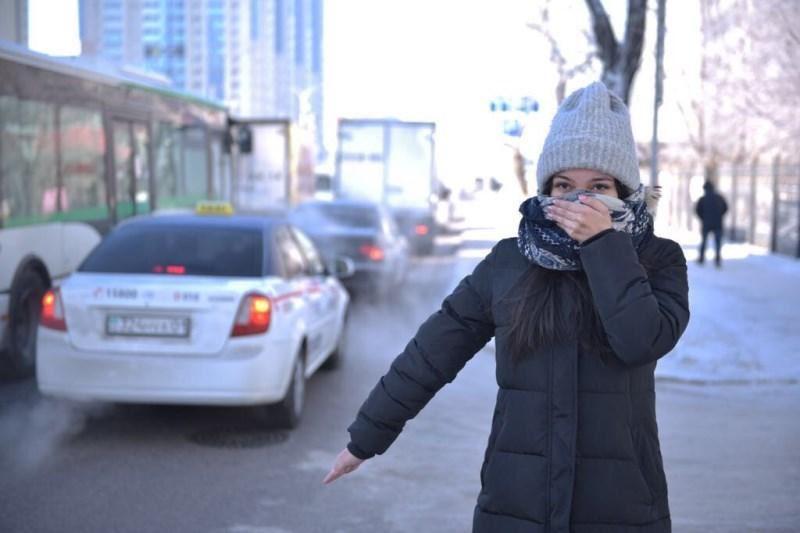 Астанада аязды күндері «тегін такси» жұмыс істейді