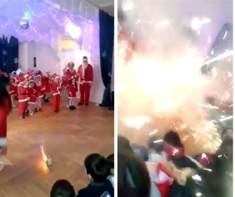 На новогоднем утреннике в детском саду начали взрываться петарды