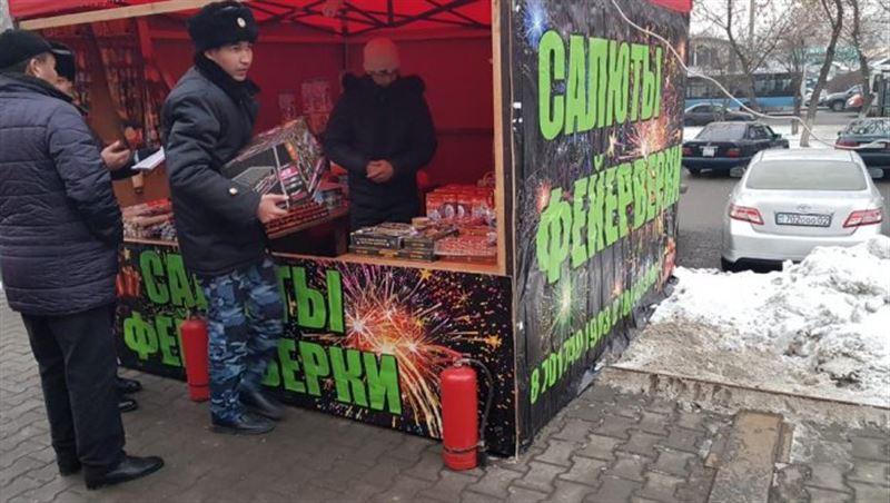 Порядка двух тонн пиротехники изъято в Алматы