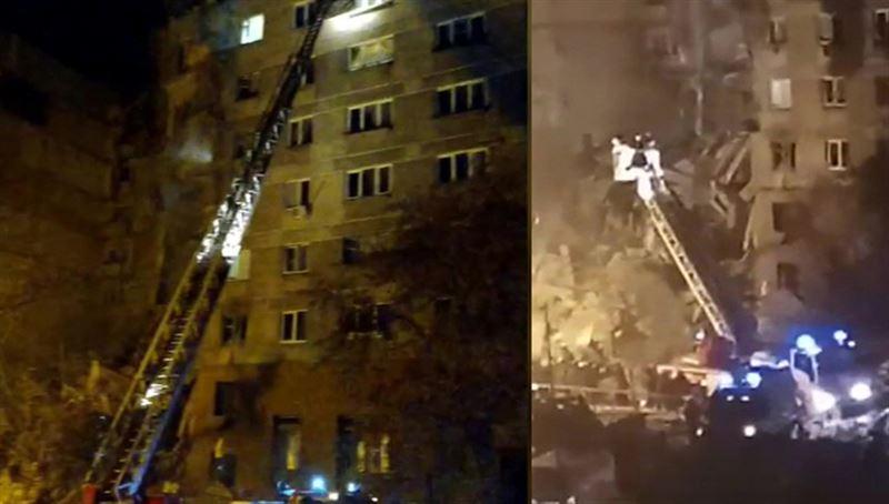 В Магнитогорске обрушился подъезд многоэтажного жилого дома