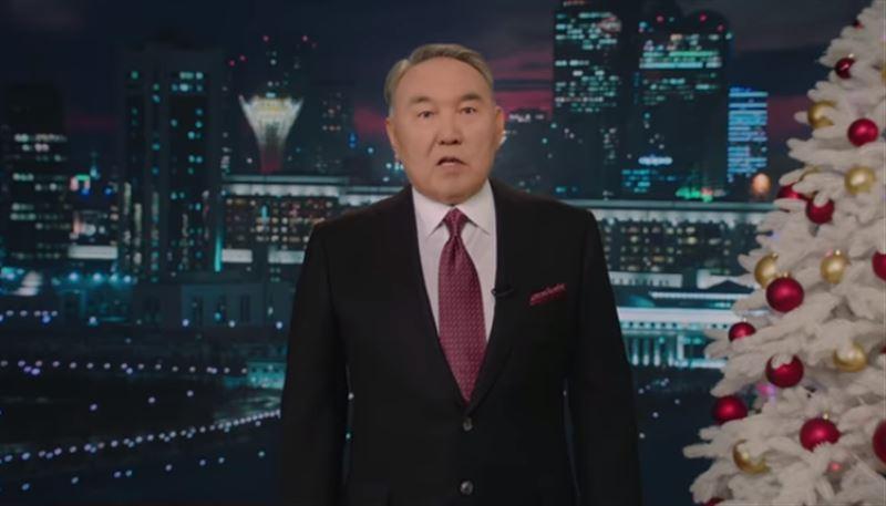 Нурсултан Назарбаев поздравил казахстанцев с Новым годом
