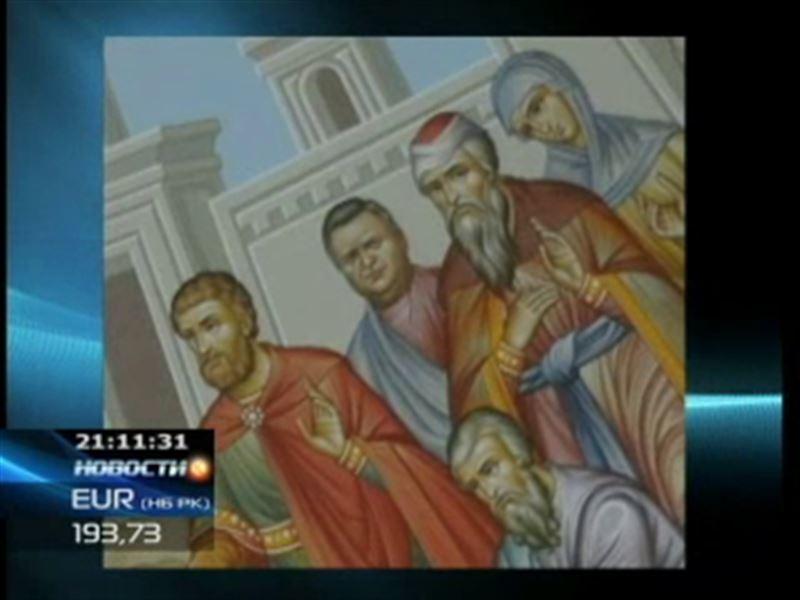 Прихожане заметили бывшего акима Костанайской области на одной из фресок    собора в Рудном