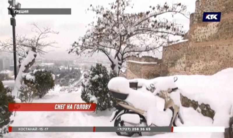 Снегопады обрушились на Австрию, Германию и Грецию