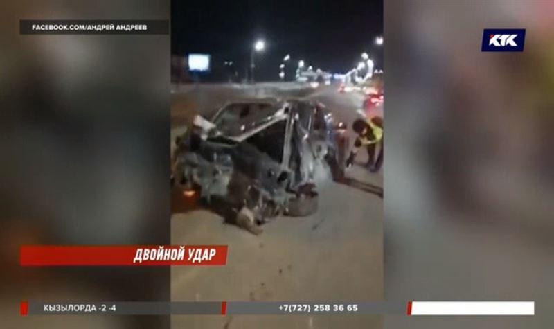 Бывший полицейский устроил массовую аварию в Алматы