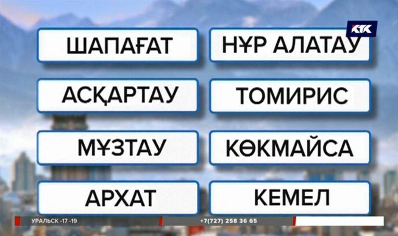 В Алматы переименовали 27 микрорайонов