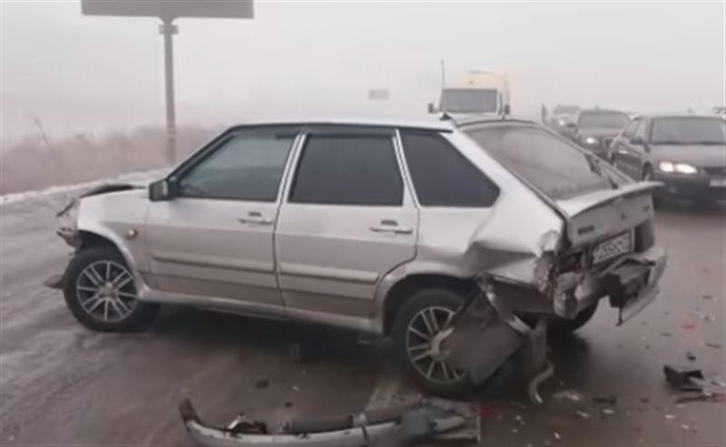 Авария с участием 31 автомобиля произошла на трассе Алматы – Капшагай