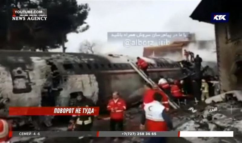 «Боинг», летевший из Бишкека, разбился в пригороде Тегерана
