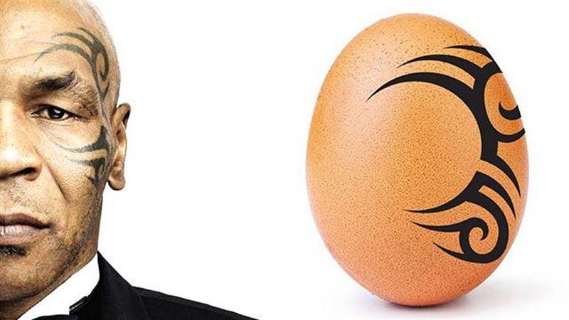 Майка Тайсона разозлило фото яйца с татуировкой