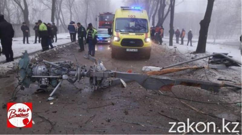 В Алматы упал вертолет: погиб пилот