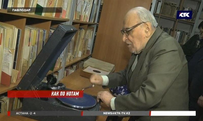Уникальной павлодарской коллекцией грампластинок заинтересовались россияне