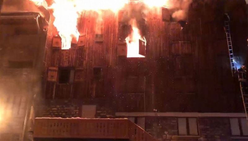 В результате пожара в Куршавеле погибли два человека