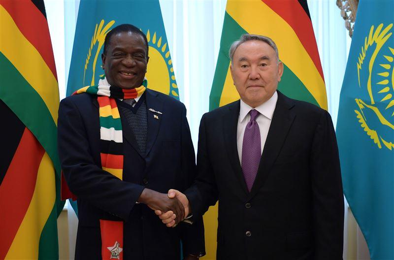 ФОТО: Нурсултан Назарбаев принял президента Зимбабве Эммерсон Мнангагва