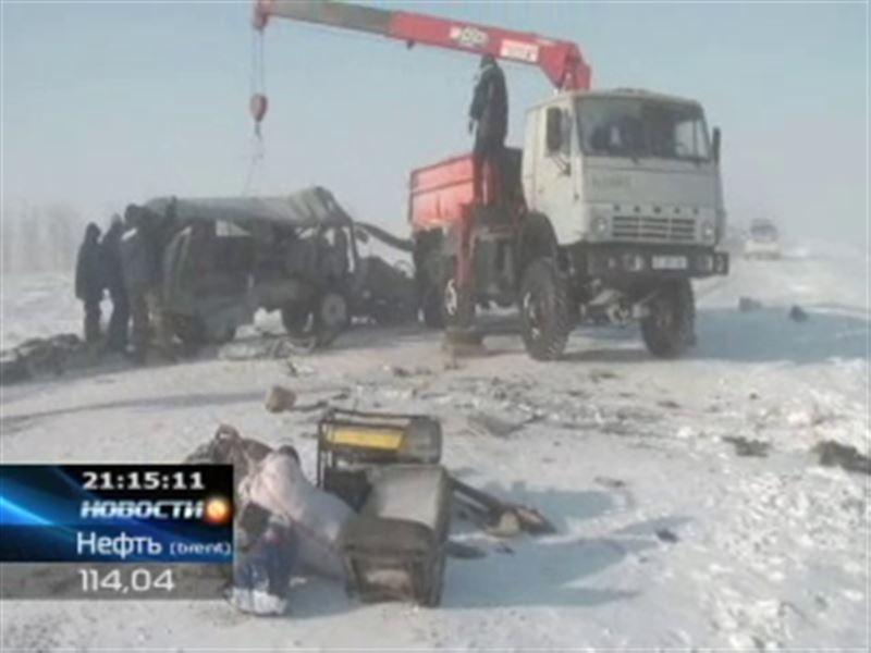 Трагедия на заснеженной трассе Актюбинской области