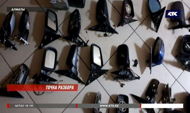 Сотни автозеркал нашли в алматинском гараже