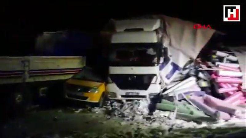 В Турции столкнулись сразу 13 автомобилей