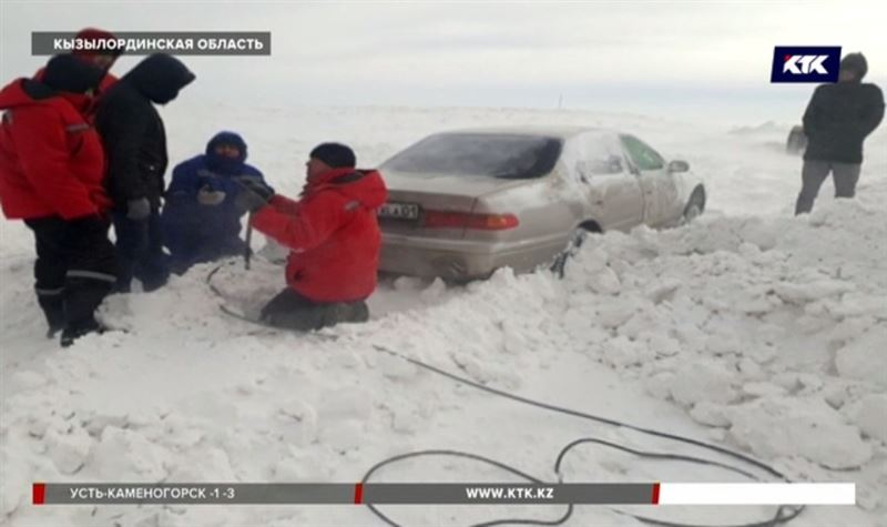 В Кызылординской области из снежного плена вызволили 143 человека