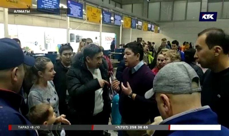 300 пассажиров почти сутки не могли вылететь из Алматы в Таиланд