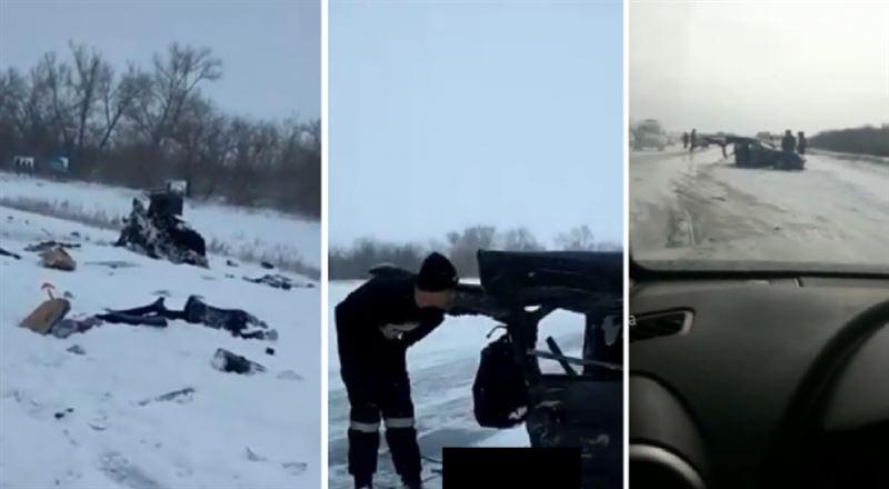 Павлодар облысында жантүршігерлік жол апатынан 2 адам мерт болды