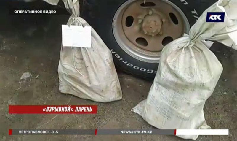 Житель Жамбылской области возил с собой два мешка взрывчатки