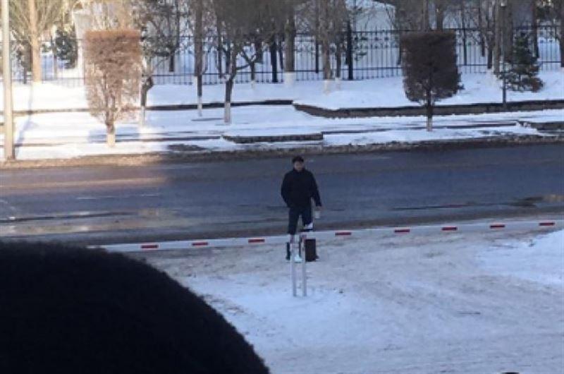 Астанада ер адам өзін жарып жібермек болды