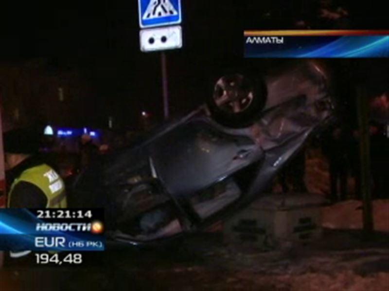 Крупная авария в Алматы
