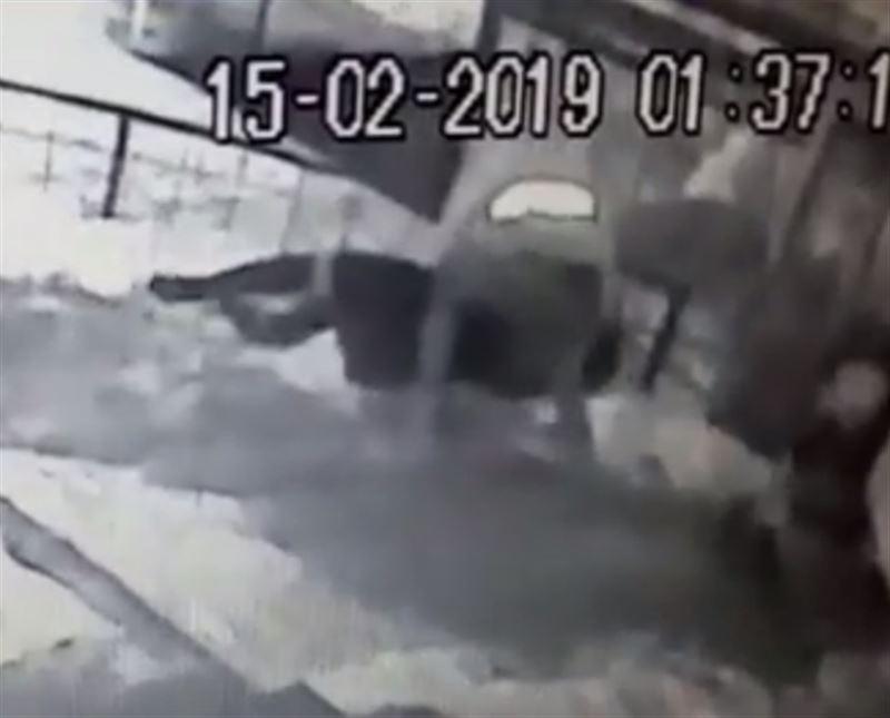В Алматы камеры наблюдения запечатлели нападение на женщину