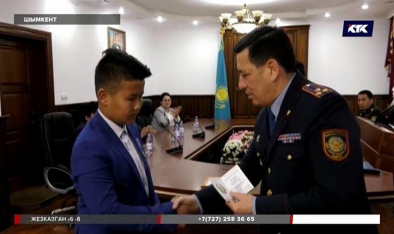 Шымкентский школьник получил государственную награду