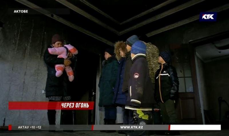 После пожара семье с шестью детьми негде жить