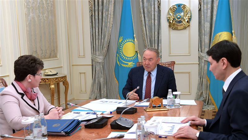 Нурсултан Назарбаев принял в Акорде председателя Счетного комитета