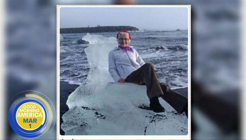 Пожилую американку унесло в море, пока она позировала на льдине