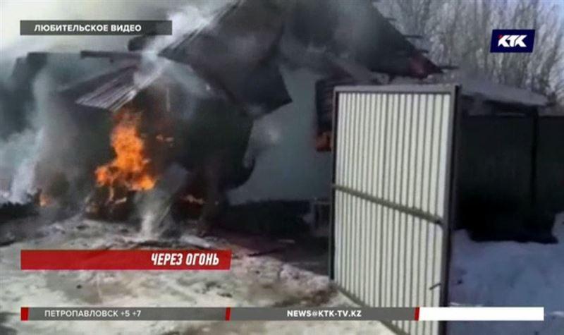 Женщина потеряла сознание и едва не погибла в огне с ребенком