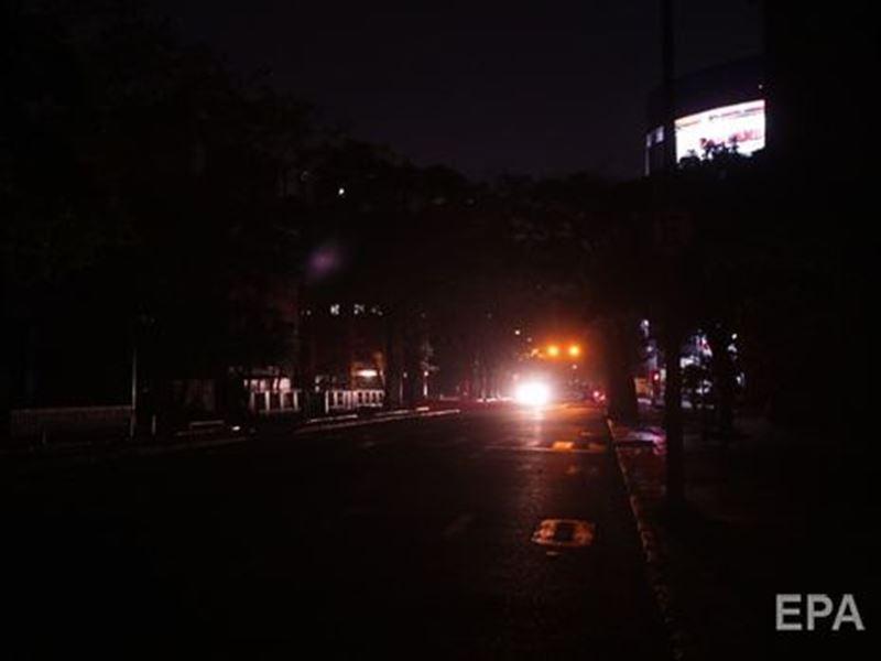 В Венесуэле вновь произошло масштабное отключение электричества