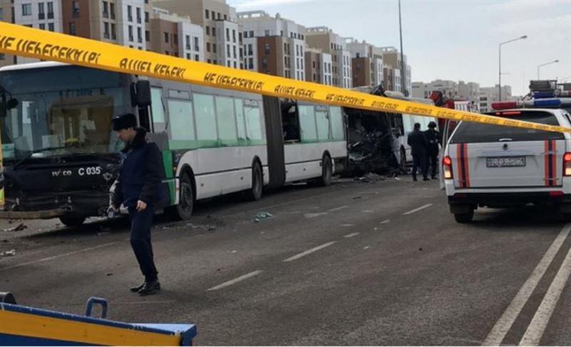Три автобуса столкнулись в Нур-Султане: есть жертвы