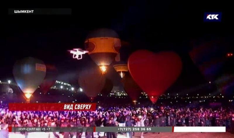 Шымкентцы выстаивали очереди, чтобы полетать на воздушном шаре