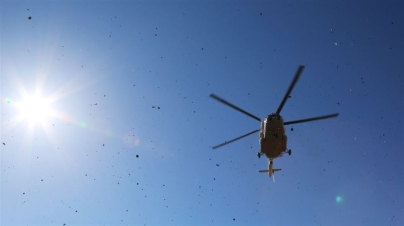 На месте рухнувшего в Казахстане боевого вертолёта обнаружили тела трёх человек