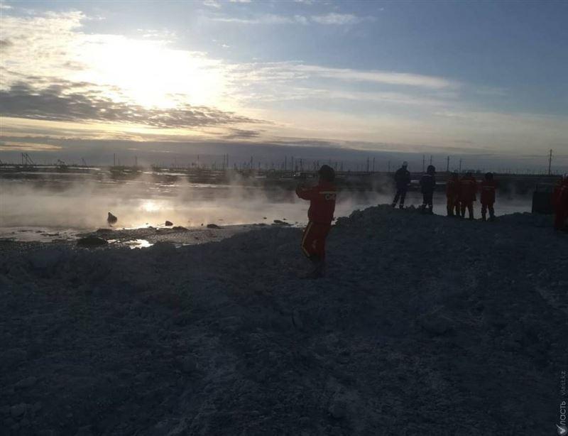 Возгорание на месторождении Каламкас ликвидировано