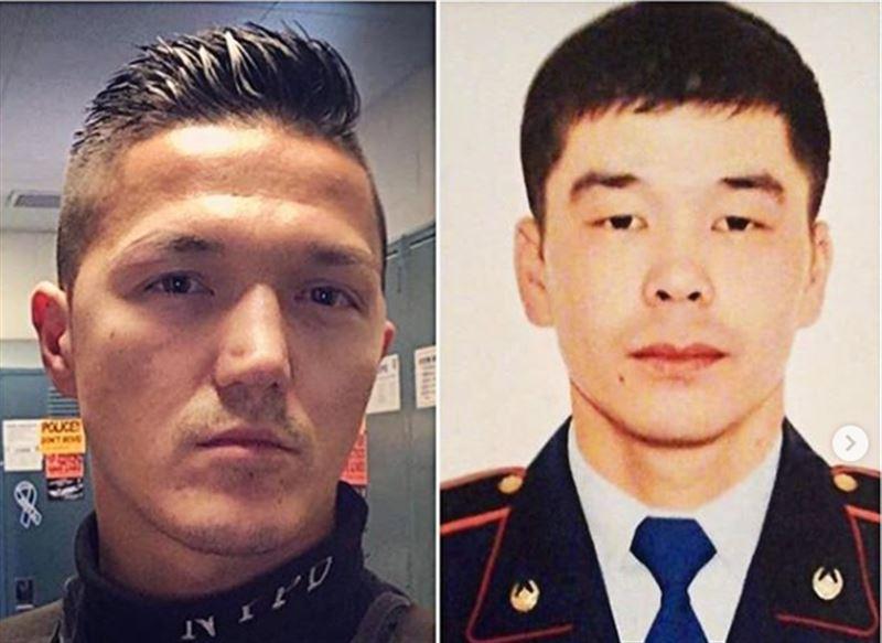 Полицейский Нью-Йорка надел траурную ленту в память о коллеге из Атырау