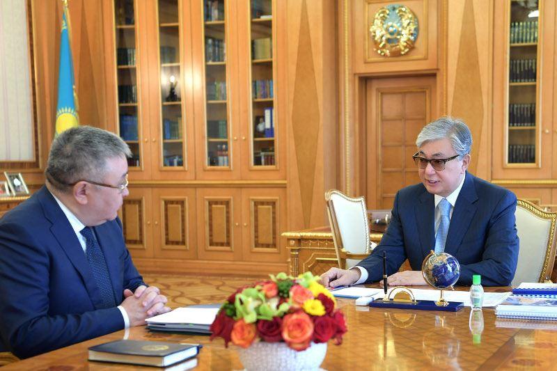 Президент принял Председателя Высшего Судебного Совета Талгата Донакова