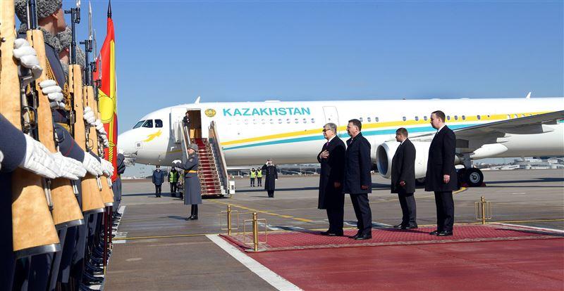 Президент Казахстана прибыл в Россию с официальным визитом